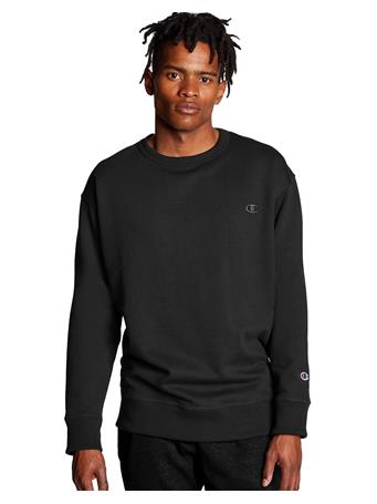 CHAMPION - Powerblend Sweats Pullover Crew BLK OAQ