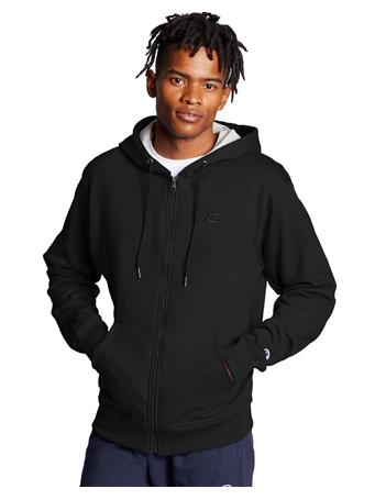 CHAMPION - Powerblend Fleece Full Zip Hoodie 003 BLACK