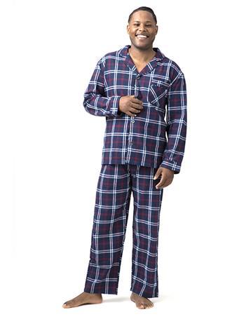 SLEEPGOOD - Flannel Pajama Set NAVY RED WHITE PLAID
