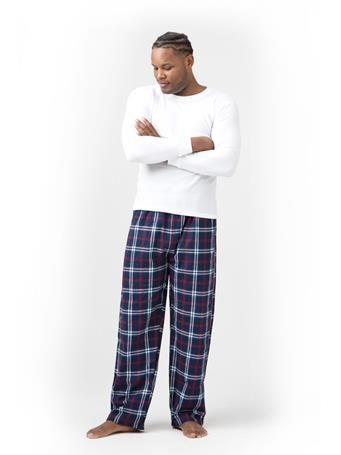 SLEEPGOOD - Waffle Flannel Top and Pant Box Set NAVY RED WHITE PLAID