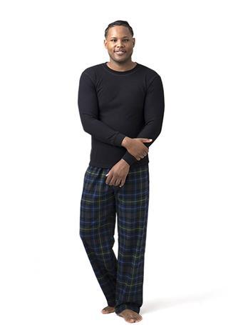SLEEPGOOD - Waffle Flannel Top and Pant Box Set NAVY GREEN