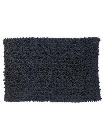 BATH MAT -  Super Bobble, Super soft, & Quick drying Chenille bath mat CHARCOAL
