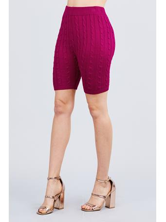 ACTIVE BASIC - Sweater Knit Shorts DK PURPLE