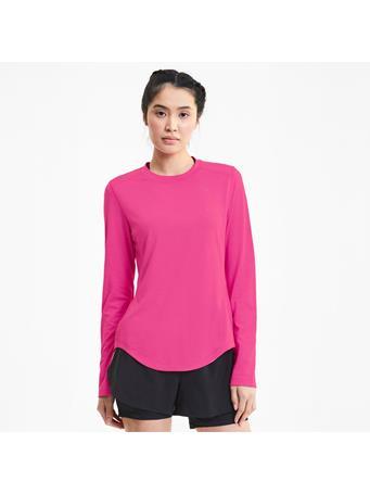 PUMA - IGNITE Long Sleeve Reflective Tec Women's T-Shirt PINK