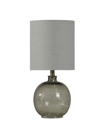 STYLECRAFT - Mini Spanish Glass Ball Lamp  GREY