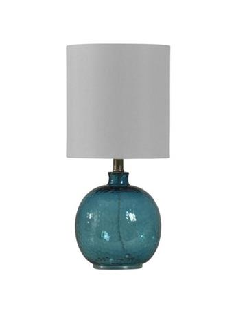 STYLECRAFT - Mini Spanish Glass Ball Lamp in Cerulean Finish BLUE