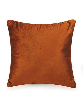 AYESHA CURRY - Diamond Velvet Square Decorative Pillow ORANGE