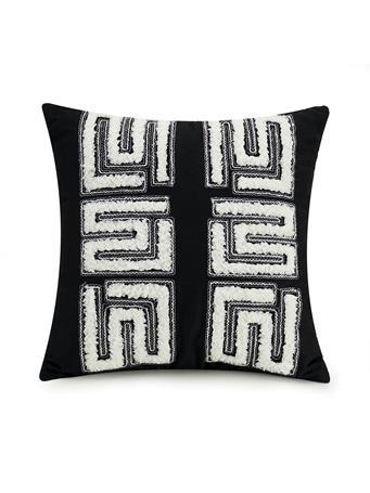 AYESHA CURRY - Zare Geo Square Decorative Pillows BLACK