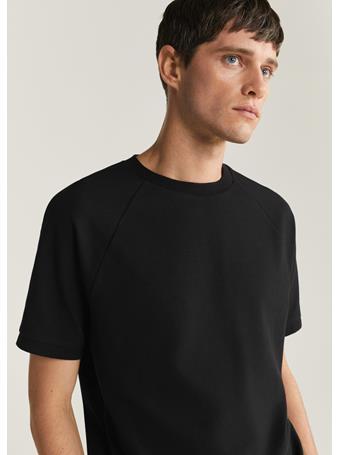 MANGO - Short-Sleeve Technical T-Shirt BLACK