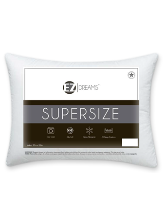 EZ DREAMS - Supersize Jumbo Pillow WHITE