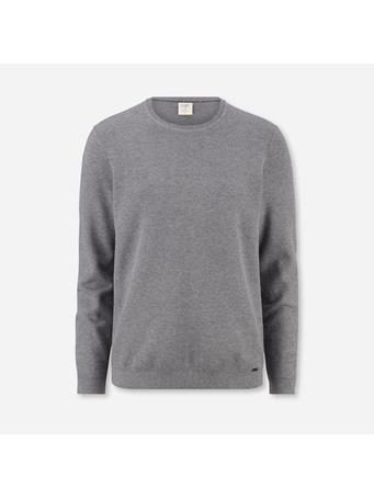 OLYMP -  Level Five Knitwear Body Fit, Pullover Crew Neck GREY