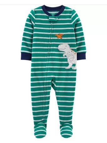 CARTER'S - 1-Piece Dinosaur Fleece Footie PJs NOVELTY
