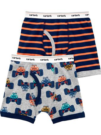 CARTER'S - 2 Pack Cotton Boxer Brief  NOVELTY