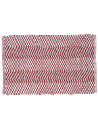 HOME ESSENTIALS - Cotton Scatter Rug-Red Chevron Mix RED MIX