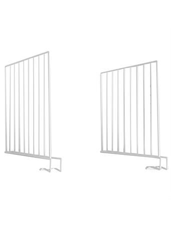 SUNBEAM - Closet Shelf Divider Metal WHITE