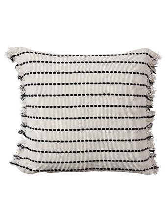 EDEN & WEST - Decorative Pillow White with Black Stripe WHITE