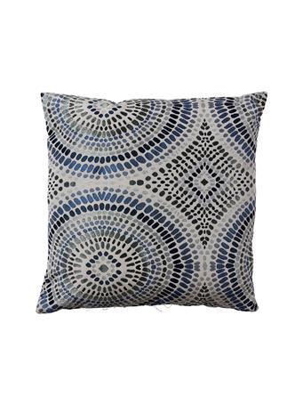 EDEN & WEST - Decorative Pillow Medallion Blue Dots BLUE
