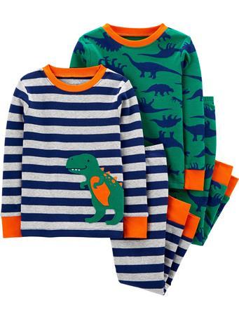 CARTER'S - 4 Piece Snug Fit Cotton Pajama Set - (2T-5T) NOVELTY