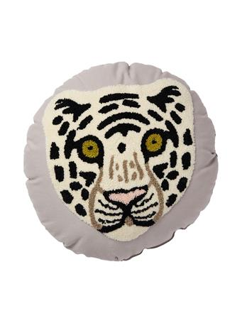 MAISON LUXE - Tiger Face Embroidered Decorative Cushion WHITE