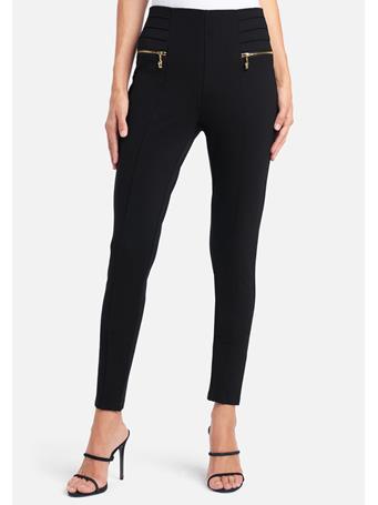 BEBE - Hi Waist Skinny Zip Pants BLACK