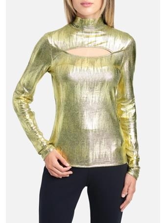 BEBE - Long Sleeve Jersey Cut Out GOLD