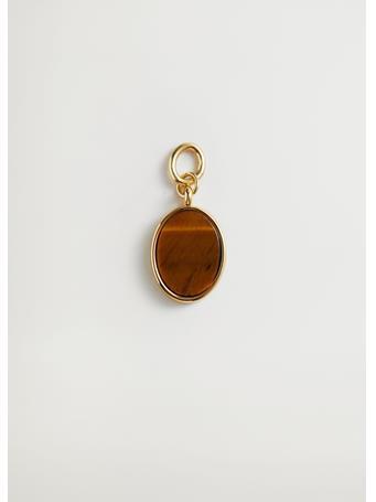 MANGO - Semi-Precious Stone Charm DARK BROWN
