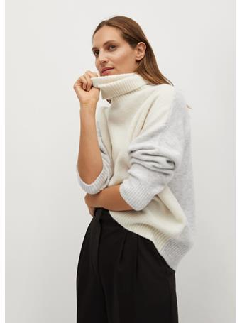 MANGO - Taldorac Turtleneck Oversize Sweater NATURAL WHITE