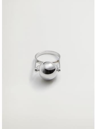 MANGO - Geometric Bead Ring LT PASTEL GREY
