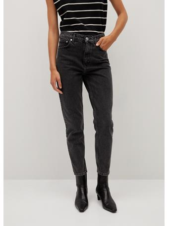 MANGO - Mom-Fit Jeans BLACK
