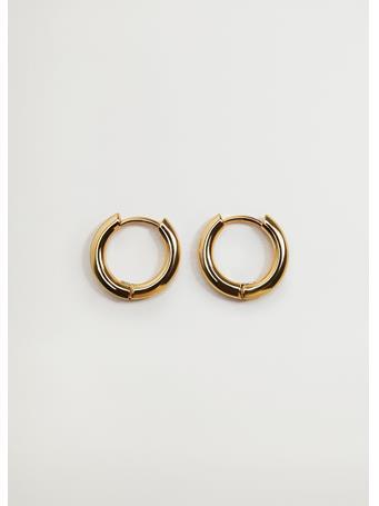 MANGO - Hoop Earrings For Charms GOLD
