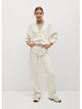 MANGO - Picky Cardigan NATURAL WHITE