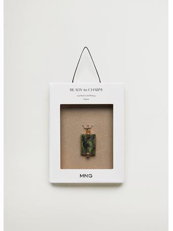 MANGO - Semi-Precious Stone Charm MEDIUM GREEN