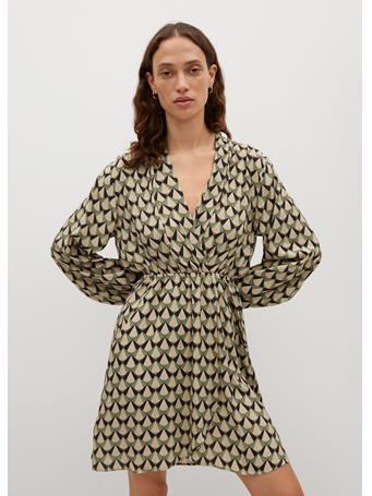 MANGO - Bias Dress MEDIUM GREEN
