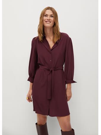MANGO - Leandra Dress DARK RED
