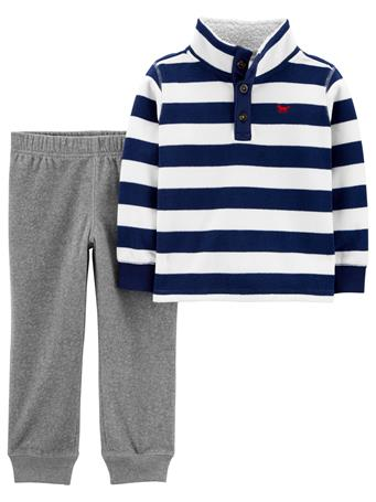 CARTER'S - 2 Piece Fleece Pullover & Jogger Set - (2T-5T) NOVELTY