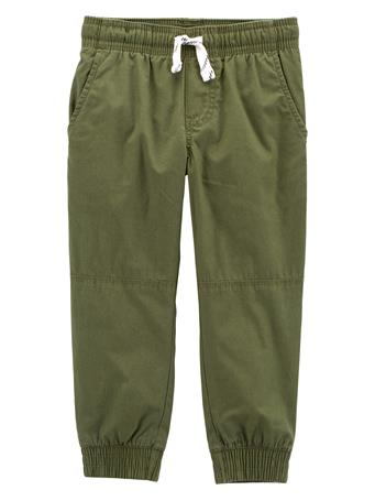 CARTER'S - Everyday Pull On Pants - (2T-5T) OLIVE
