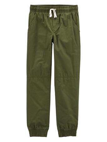CARTER'S - Everyday Pull On Pants - (5-8) OLIVE