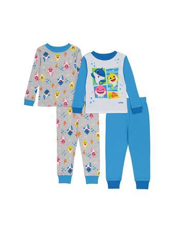 Baby Shark 4 Piece Pajama Set (2T-4T) NOVELTY