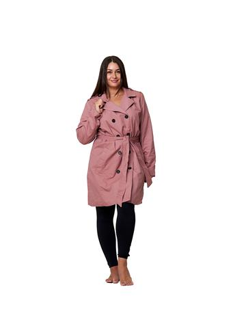 YOKI - Double Breasted Trench Coat - Size S-3X OLIVE GREEN