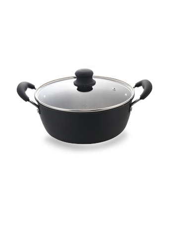 IKO EVERDAY EVERYWAY - Granite Non-Stick Dutch Oven with Lid BLACK