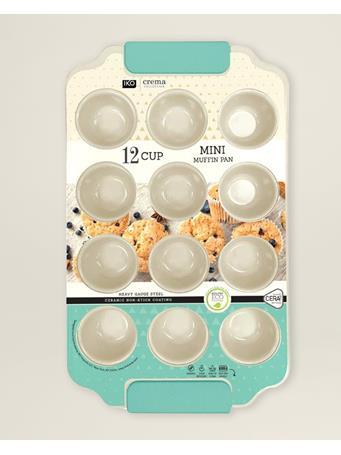 IKO CREMA BAKEWARE - 12 Cup Mini Muffin Tin GREEN
