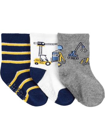 CARTER'S - 3 Pack Construction Socks  NOVELTY