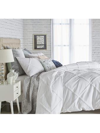 PERI HOME - Chenille Lattice Duvet Cover WHITE