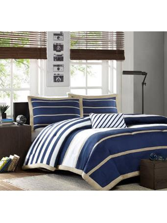 MI-ZONE - Ashton Comforter Set NAVY
