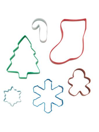 WILTON - Christmas Cookie Cutter Set In Tin MULTI