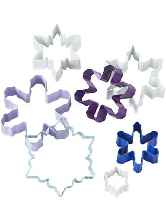 WILTON - Cookie Cutter Metal Snowflake Set MULTI