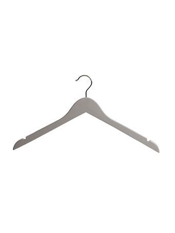 STORAGE ESSENTIALS - Hangar 5 Piece Wood Shirt With Out Bar GREY
