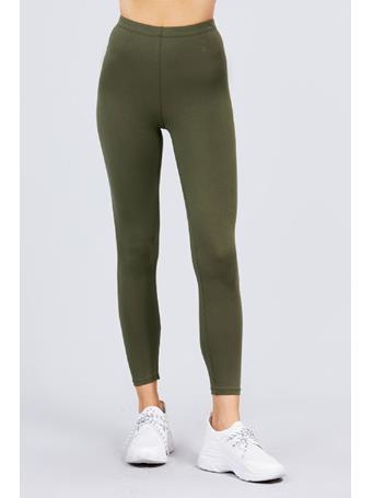 ACTIVE BASIC - Cotton Jersey Legging OLIVE GREEN