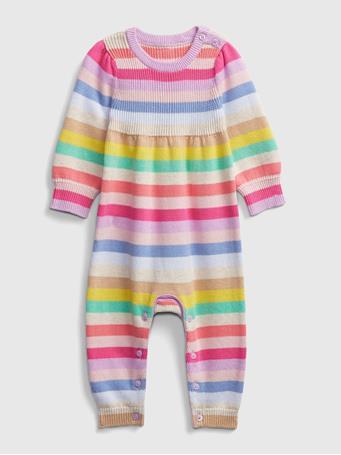 GAP - Baby Happy Stripe One-Piece MULTI STRIPE