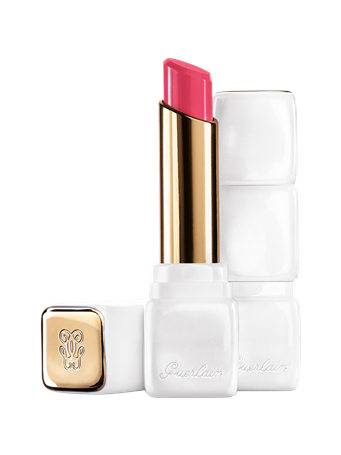 GUERLAIN - KISSKISS ROSELIP - Hydrating & Plumping Tinted Lip Balm R375 Flush Noon